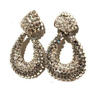 Custom swarovski crystals silver earrings